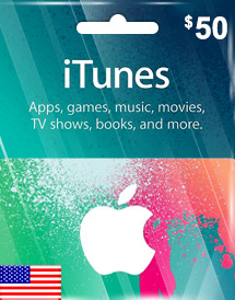 itunes usd50 gift card us