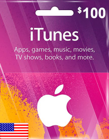itunes usd100 gift card us