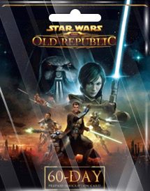 star wars : the old republic 60 days time card