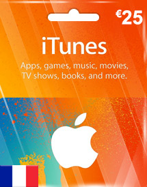 eur25 itunes gift card