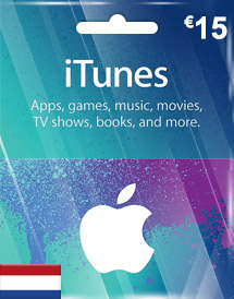 itunes eur15 gift card nl