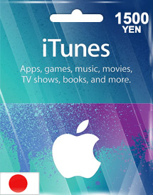 itunes 1,500yen gift card jp