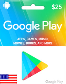 google play usd25 gift card us