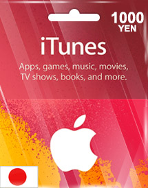 itunes 1,000yen gift card jp