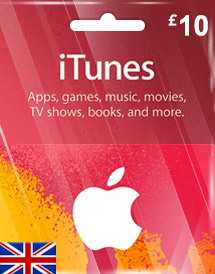 itunes gbp10 gift card uk