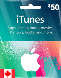 itunes cad50 gift card