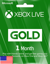 xbox live gold 1 month subscription us