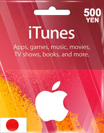 itunes 500yen gift card jp