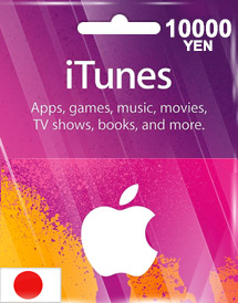 itunes 10,000yen gift card jp