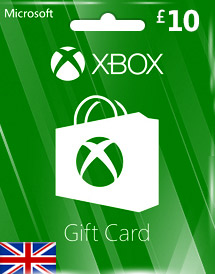 gbp10 xbox live gift card uk