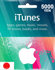 itunes 5,000yen gift card jp