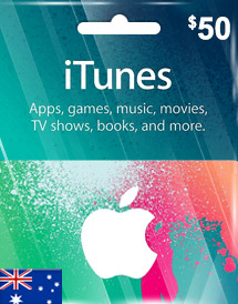 aud50 itunes gift card