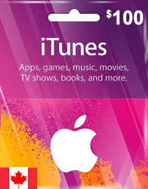 itunes cad100 gift card