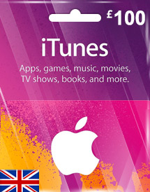 itunes gbp100 gift card uk