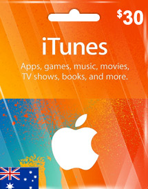 aud30 itunes gift card