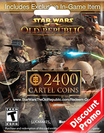 swtor global 2,400 cartel coins