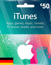 eur50 itunes gift card
