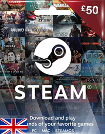 steam wallet code gbp50 uk