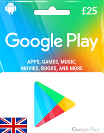 google play gbp25 gift card uk