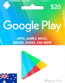 google play aud20 gift card au