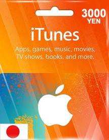 itunes 3,000yen gift card jp