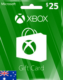 xbox live aud25 gift card