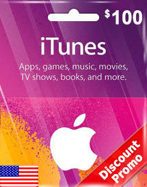 itunes usd100 gift card us discount promo