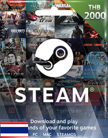 steam wallet code thb2,000 th