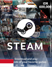 steam wallet code idr600,000 id
