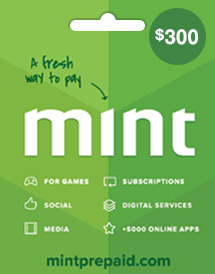 mint prepaid card usd300 global