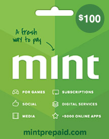mint prepaid card usd100 global