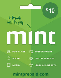 mint prepaid card usd10 global