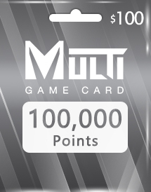 multi game card 100,000 points global