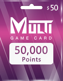 multi game card 50,000 points global