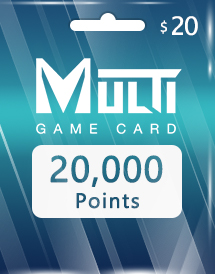 multi game card 20,000 points global