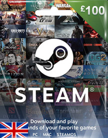 gbp100 steam wallet code uk