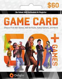 ea origin game cash card