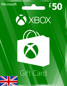 gbp50 xbox live gift card uk