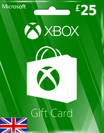 gbp25 xbox live gift card uk