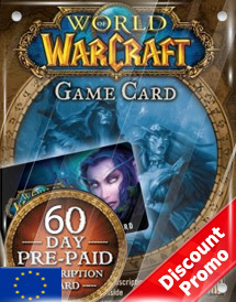 world of warcraft 60days pre-paid game card eu discount promo