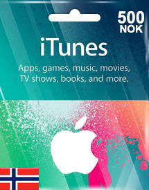 itunes nok500 gift card no