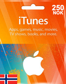 itunes nok250 gift card no