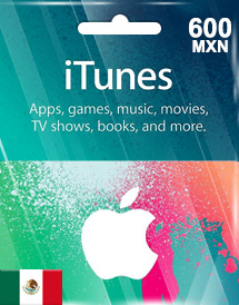 itunes mxn600 gift card mx