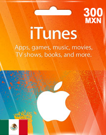 itunes mxn300 gift card mx