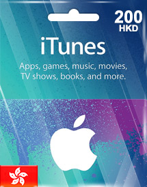 itunes gift card hk