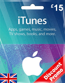 itunes gbp15 gift card uk discount promo