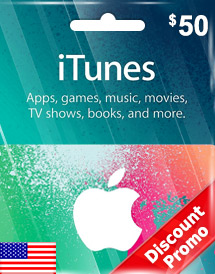 itunes usd50 gift card us discount promo