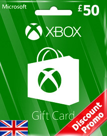 gbp50 xbox live gift card uk discount promotion