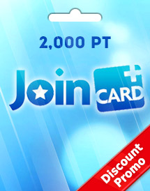 join card 2,000 pt discount promo