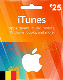 itunes be eur25 itunes gift card